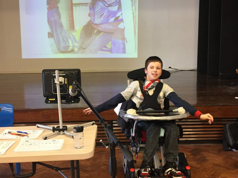 Jamie in School Presenting to His class